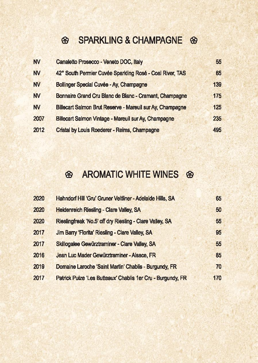 Mp Spice Bar A5 Drinks Menu Revised April 2021 Page 004