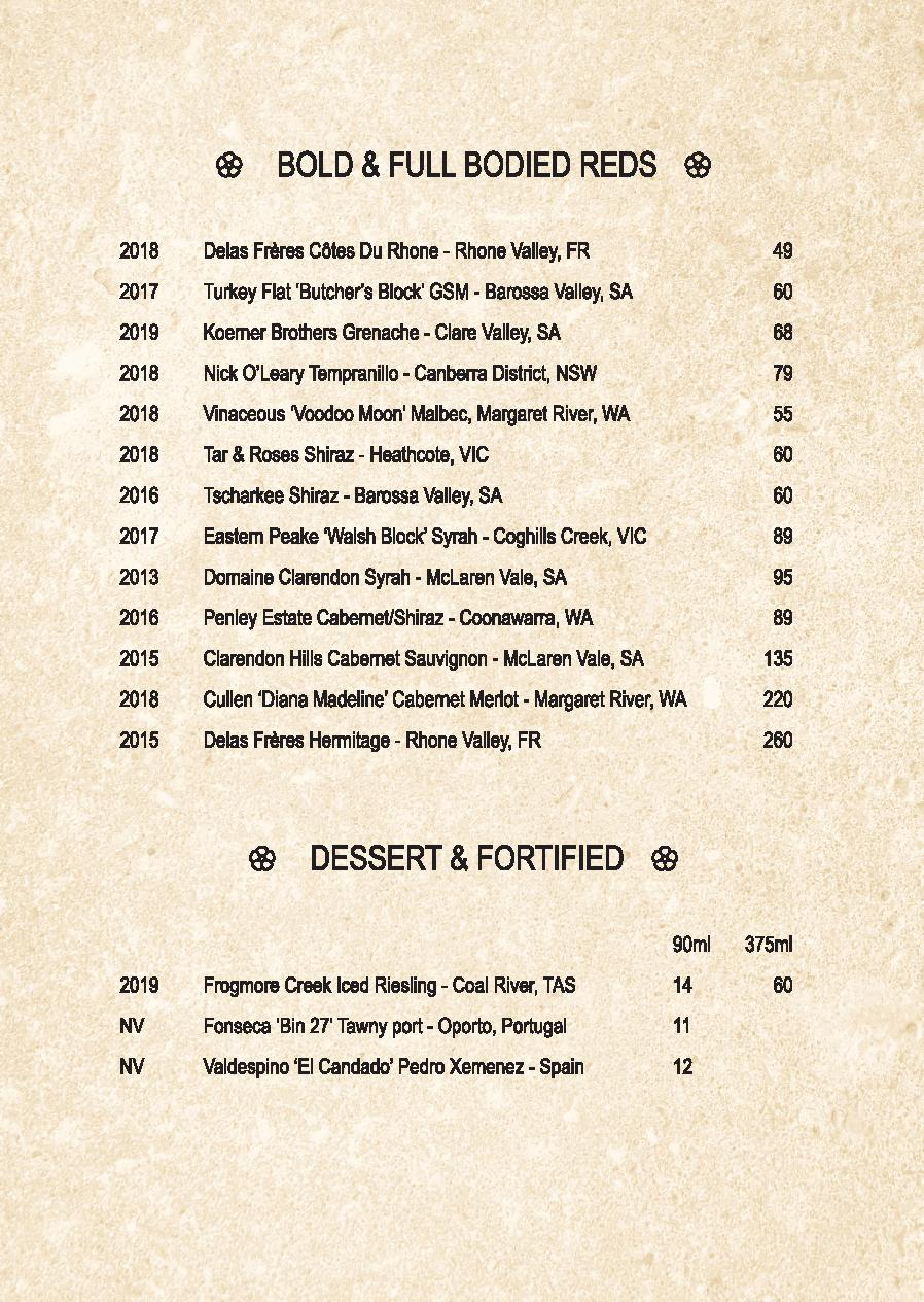 Mp Spice Bar A5 Drinks Menu Revised April 2021 Page 007