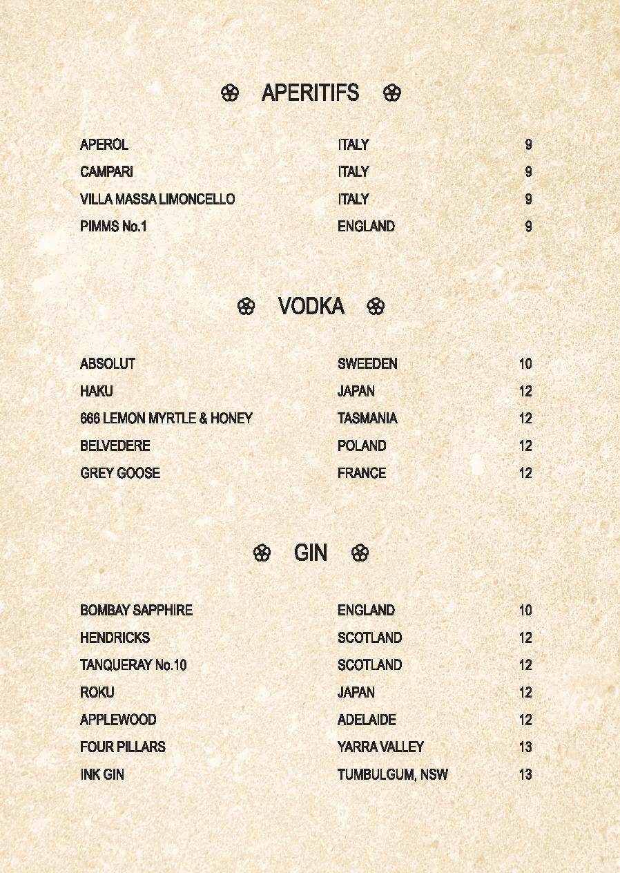 Mp Spice Bar A5 Drinks Menu Revised April 2021 Page 009