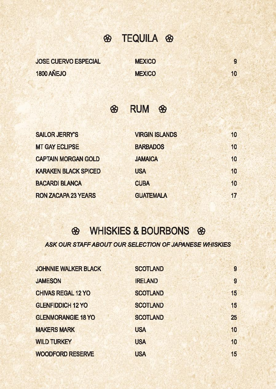 Mp Spice Bar A5 Drinks Menu Revised April 2021 Page 010