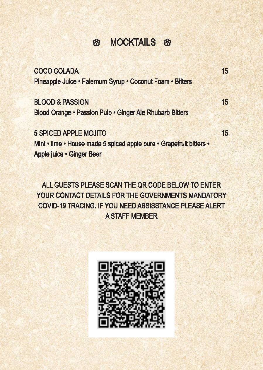 Mp Spice Bar A5 Drinks Menu Revised April 2021 Page 012